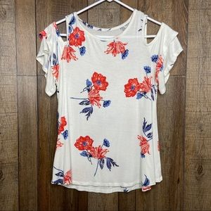 🎃 Maurices 24/7 Floral Top Tee Shirt